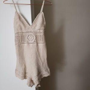 3 for $65! Kimchi Blue S Cream Knit Romper